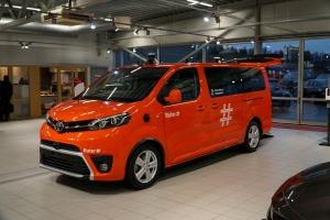 Önjáró Toyota PROACE modellek szállítják az utasokat a norvég fővárosban