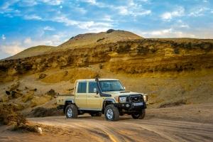 Luxusjármű a munkagépek között: Toyota Land Cruiser 79 Namib Edition