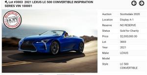 Majdnem 600millió forintért talált gazdára a világ első Lexus LC kabriója!