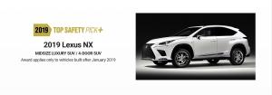 Kategóriájának egyik legbiztonságosabb tagja a 2019-es Lexus NX