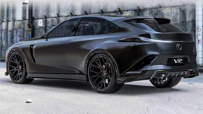Sötétbe és világosba bújtatva is lenyűgöző a Lexus terepkupéja