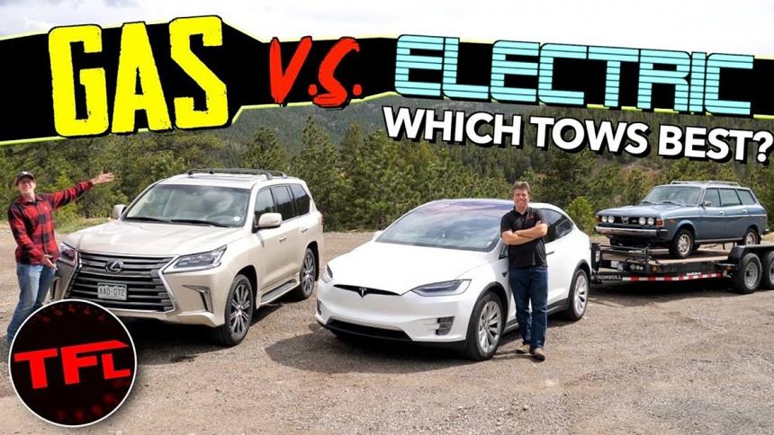 Vontatópárbaj: V8 vs. villanymotor
